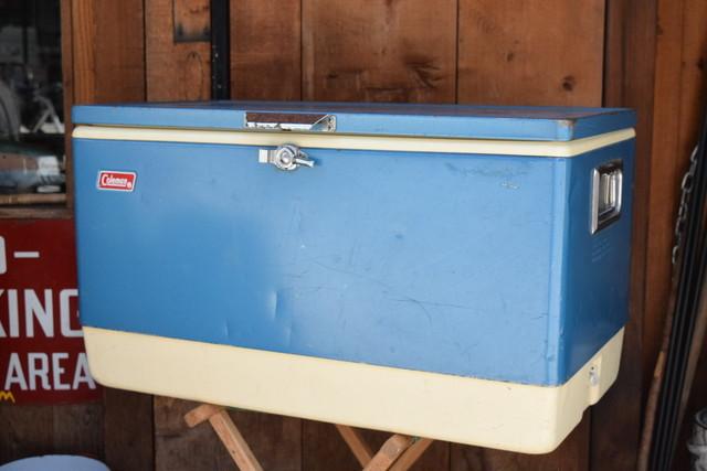 USED 60s Vintage Coleman Snow-Lite Cooler -blue 01013