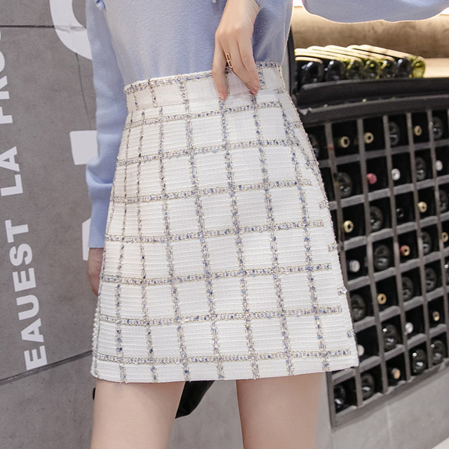 【bottoms】ハイウエストAライン海外トレンドプリーツスカート 23119867