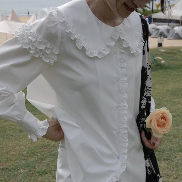 frill armband blouse 2c's