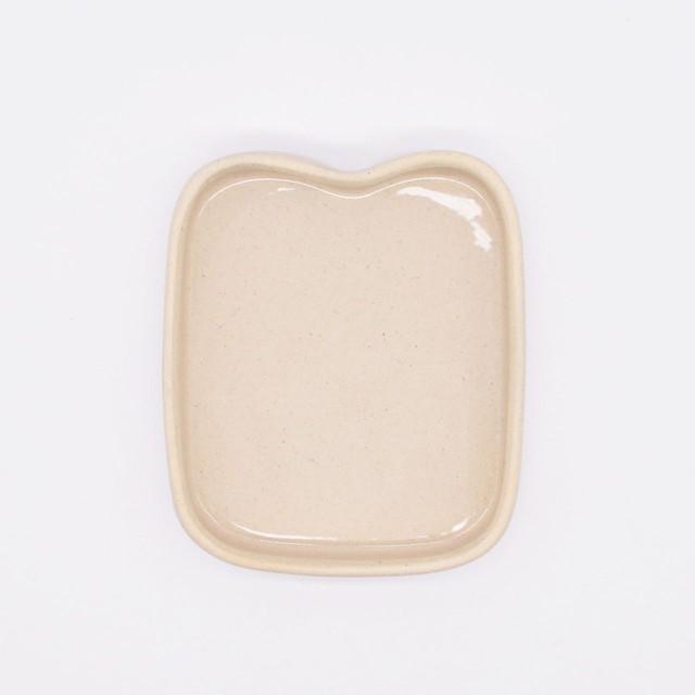 【限定1点 アウトレット品】波佐見焼 小皿 ミニトレイ パン プレーン 252878 豆豆市055