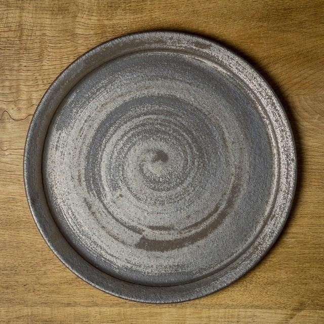 鉄錆 8寸リムプレート(平皿・フラットプレート・大皿)/吉永哲子
