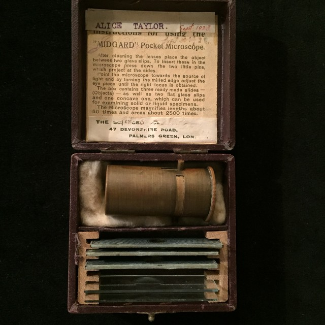 Antique Portable Mini Microscope Set