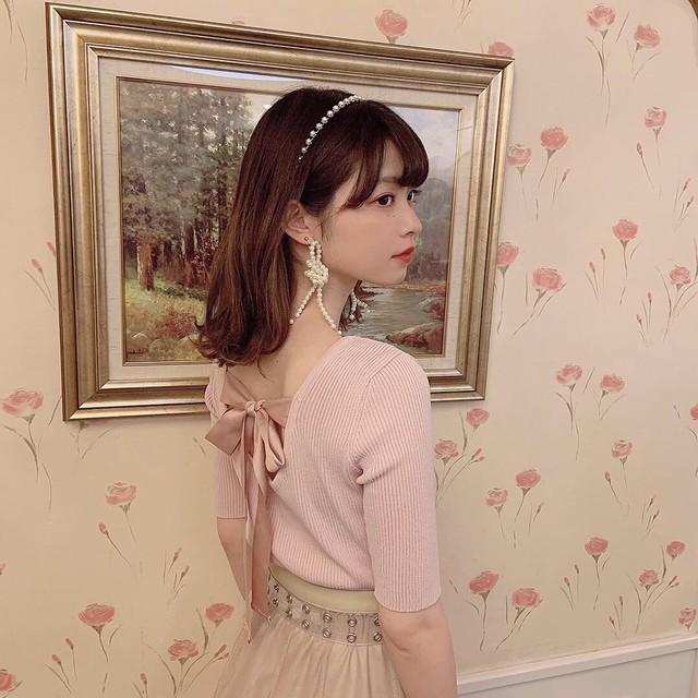 【LAST3】pearl hairband (gold/silver)