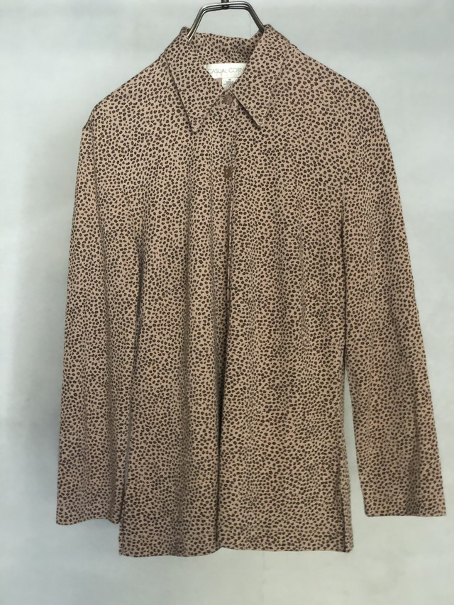 """"""" CASUAL CORNER """" vintage leopard blouse"""