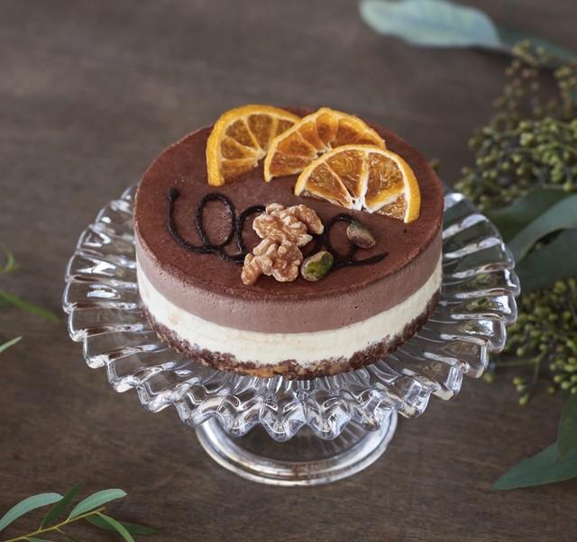 【12cm】ヴィーガンオレンジ&チョコレートケーキ※卵・乳製品・小麦不使用