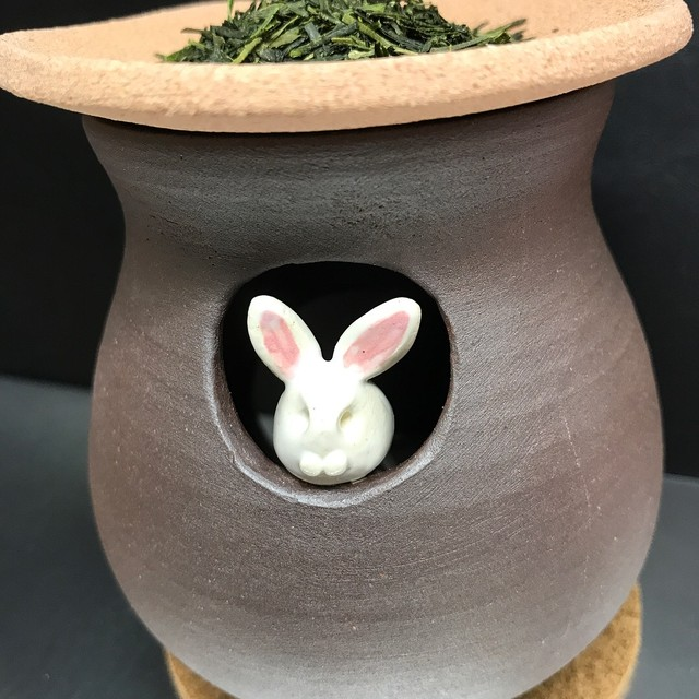 清水焼 香炉  独楽筋 (Kyo-yaki&Kiyomizu-yaki Incense burner)