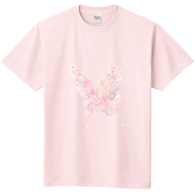 to DebRA Tシャツ 蝶々(ペールピンク)