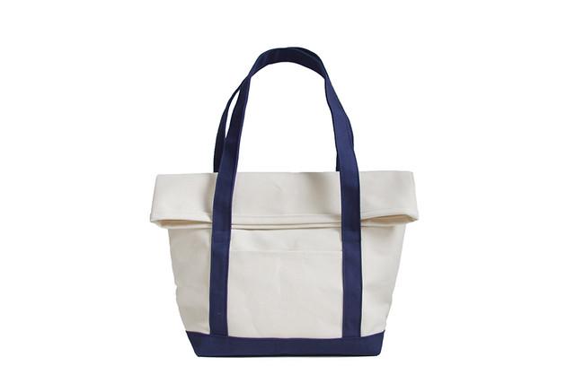 BEND TOTE BAG(キナリ×ネイビー)
