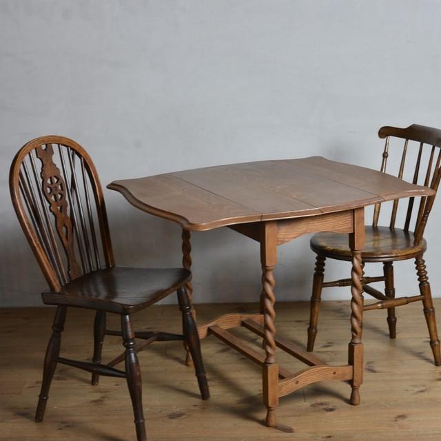 Drop Leaf Table /  ドロップ リーフ テーブル〈ダイニングテーブル・エクステンションテーブル伸張式・アンティーク・ヴィンテージ〉 112324