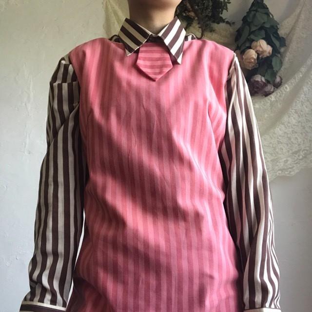 Vintage pink stripe dress