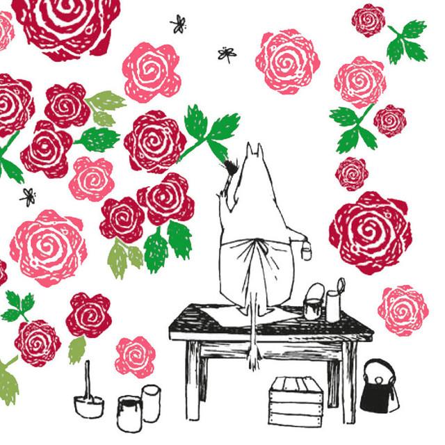 【ムーミン】バラ売り1枚 ランチサイズ ペーパーナプキン RUUSU-MUUMI ホワイト