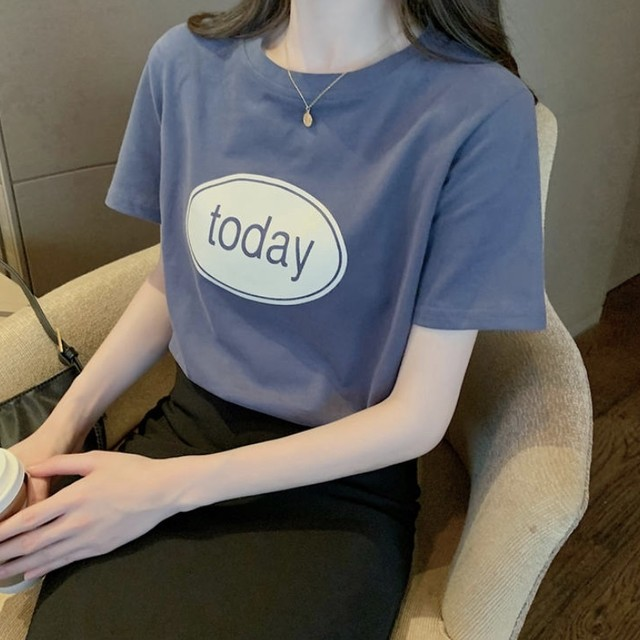 シンプル ロゴ カラー Tシャツ 6色 B4354