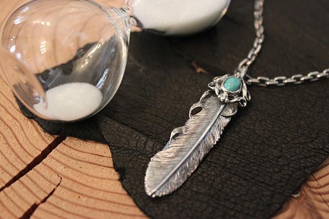 Designers Jewelry buff 千年フェザーターコイズ付きペンダント(千年フェザーL2)