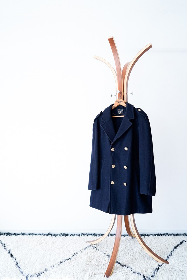 "【1970s】""Gloverall"" Wool Double Breasted Coat / v438"