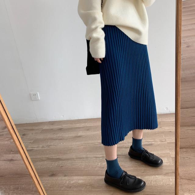 リブニットスカート 5カラー 3505