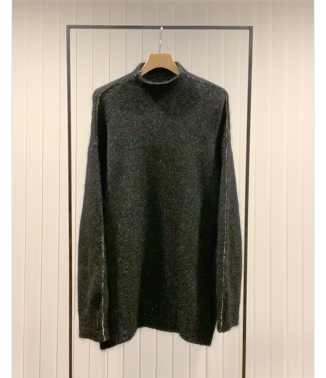 Borderline Mock-neck Sweater / Black