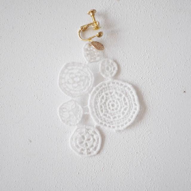 【片耳用】lace earring WHITE