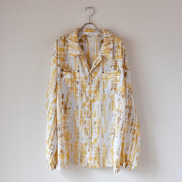 【男女兼用】リングスナップボタンシャツ /AF26_イエロー