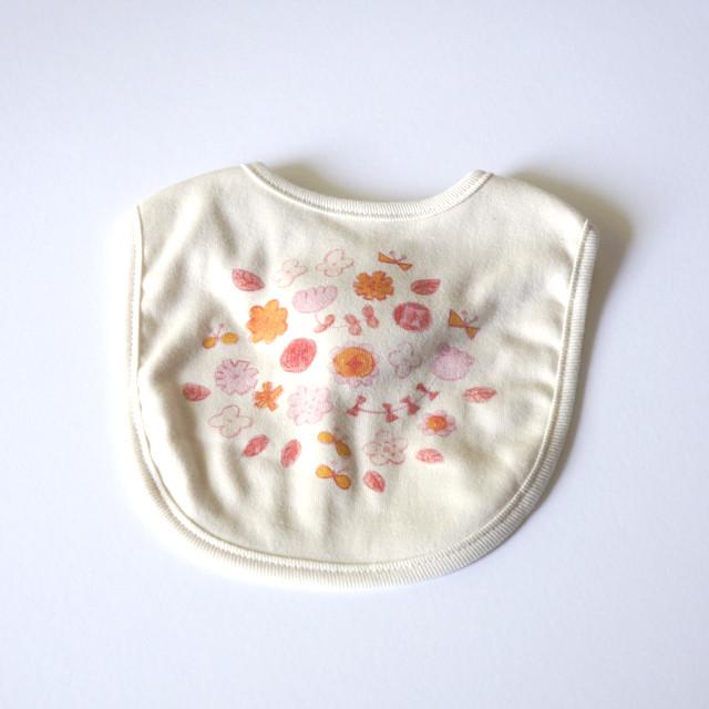 お花畑 スタイ (ピンク) ● organic cotton 100%【受注生産】