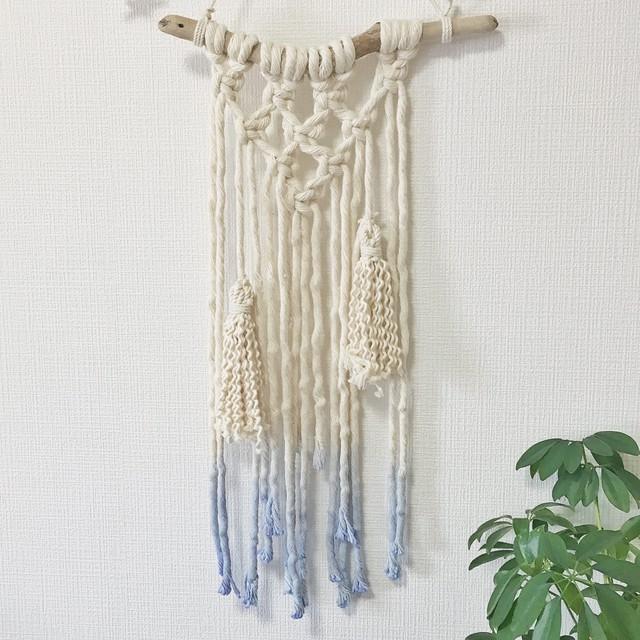 thick macrame tapestry - dipdye × tassel -