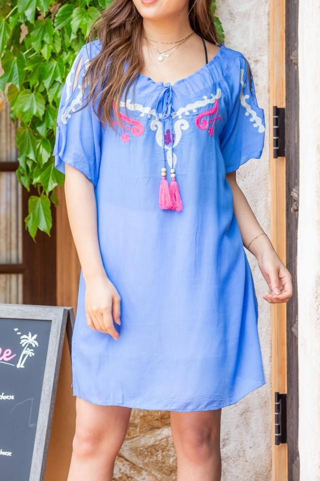 ◆Mon ange Louise◆ EMBROIDERY CALOU DRESS ビーチドレス ワンピース