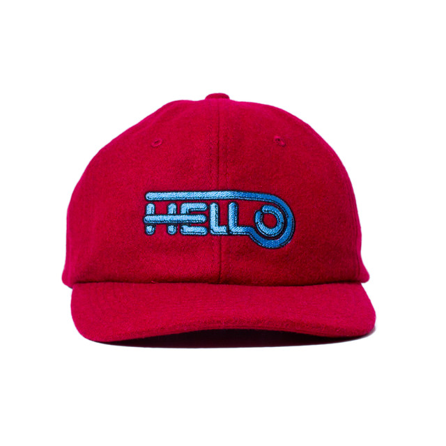 HELLO WOOL BB CAP #RED