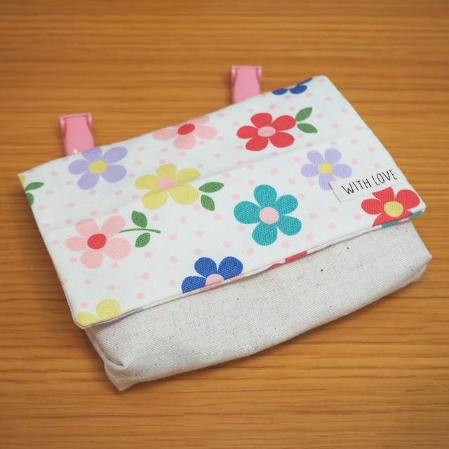 【Bear.】移動ポケット・カラフル花柄