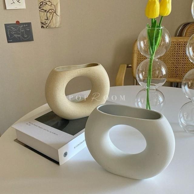 ドーナッツフラワーベース(花瓶) R1001