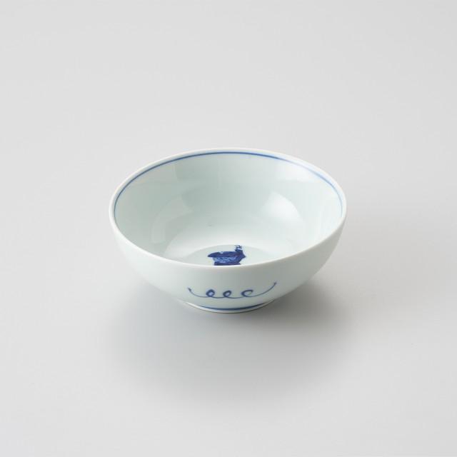 【青花】カール紅毛人 4寸ボウル