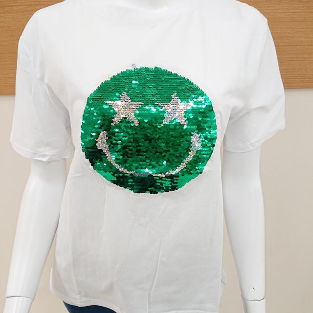 〜スマイル スパンコール ティシャツ  〜 にこちゃん ニコちゃん