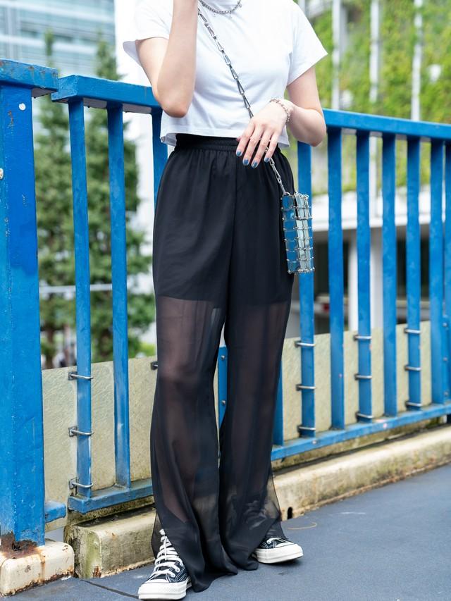 【WOMENS - 1 size】SHIFFON EASY PANT / Black