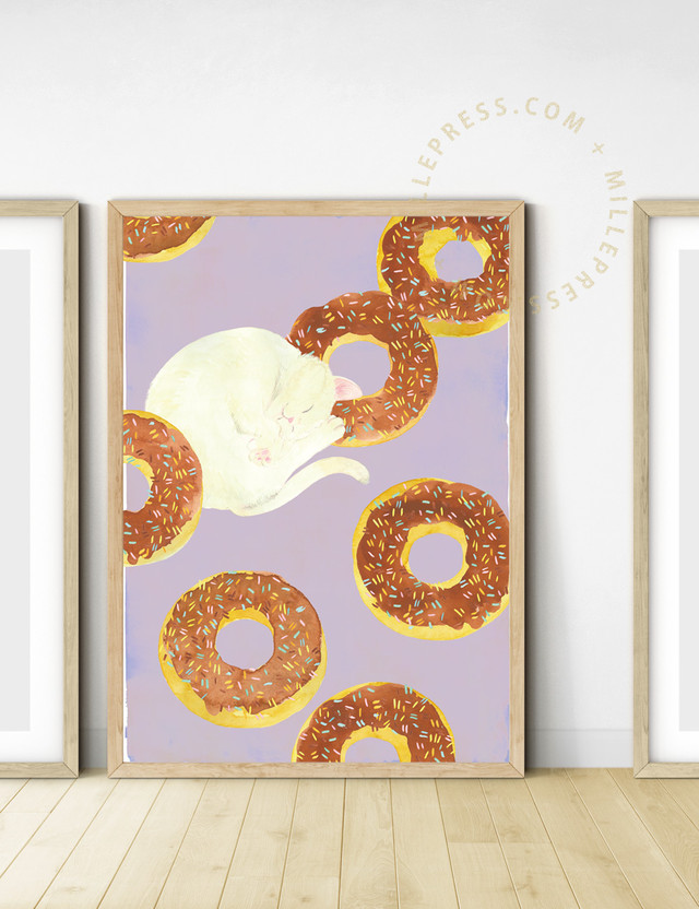"""【Cat and delicious time """"chocolate donuts""""】 MP155-017C"""
