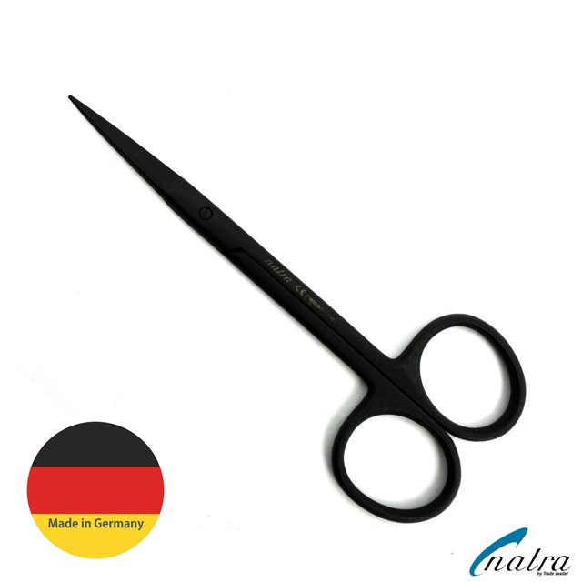 NATRA  STRAIGHT SERRATED SCISSORS 120-25