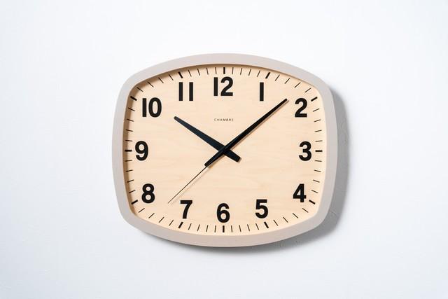 掛け時計 R-SQUARE CLOCK【GRAY】