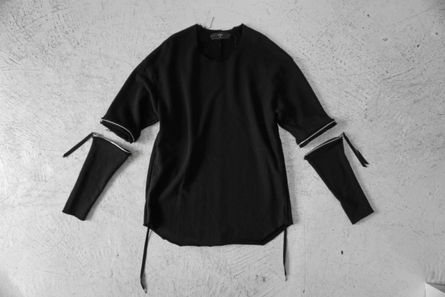 ASKYY / Removable sleeves pullover / F.BLK