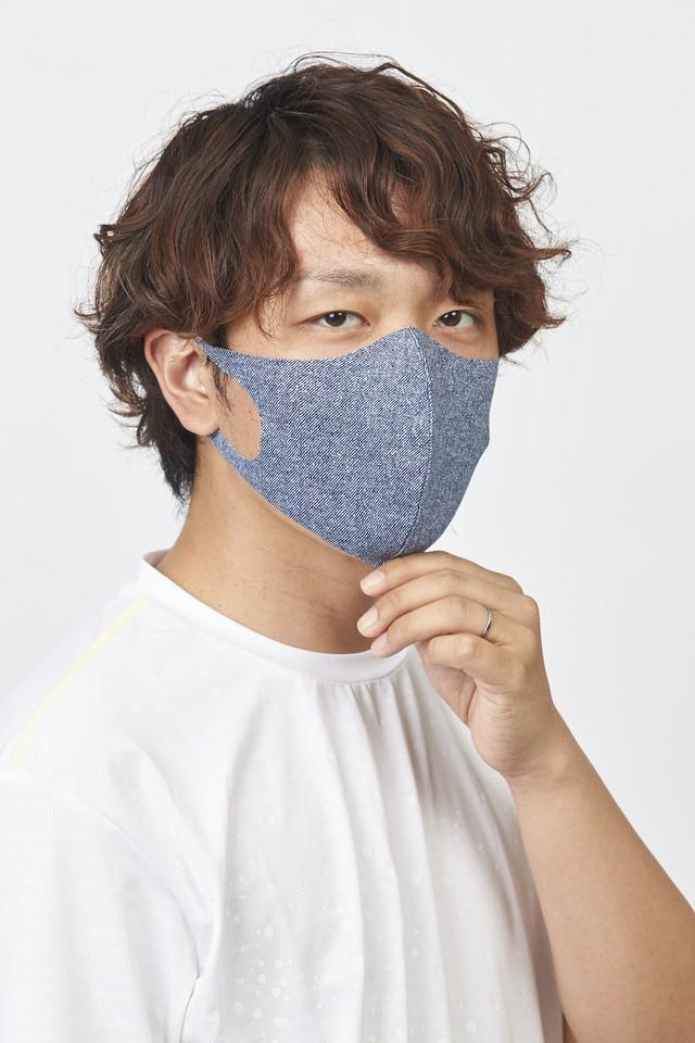 ご要望多数!限定数再販 メッシュ「クール♥」 Rサイズ マスク 無地2枚セット 接触冷感・UVカット・吸汗速乾 #110