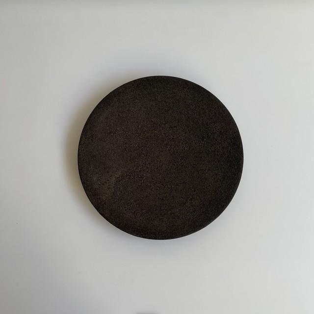 藤本健  錆漆 7寸皿