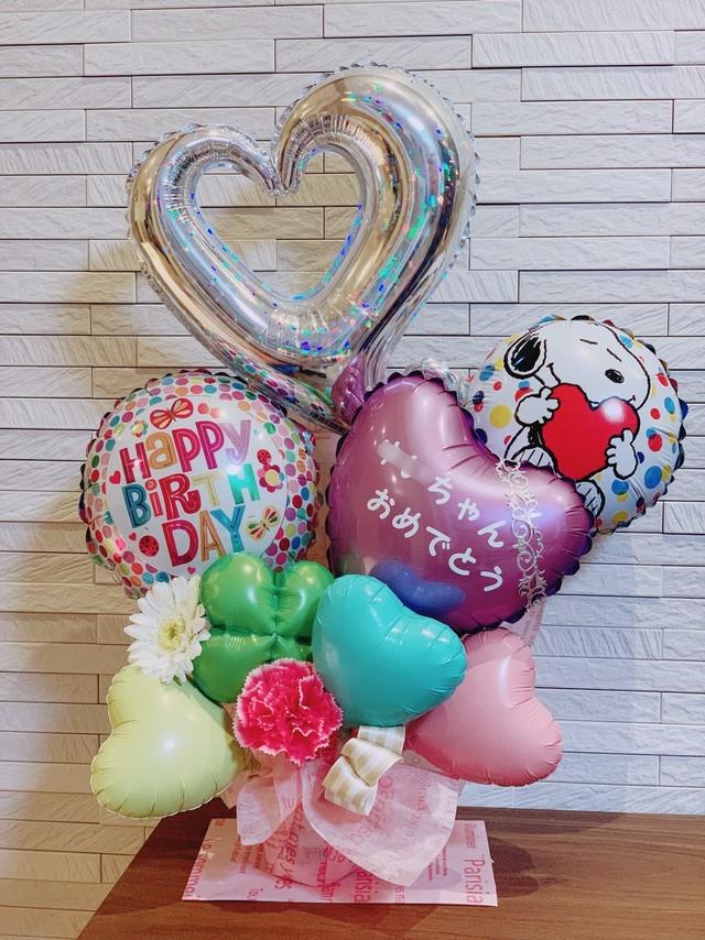 【BI-5】【送料無料】スヌーピー  お誕生日バルーン Mサイズ