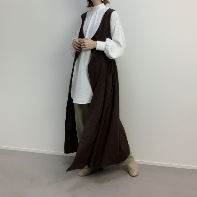 flare gilet long OP/brown