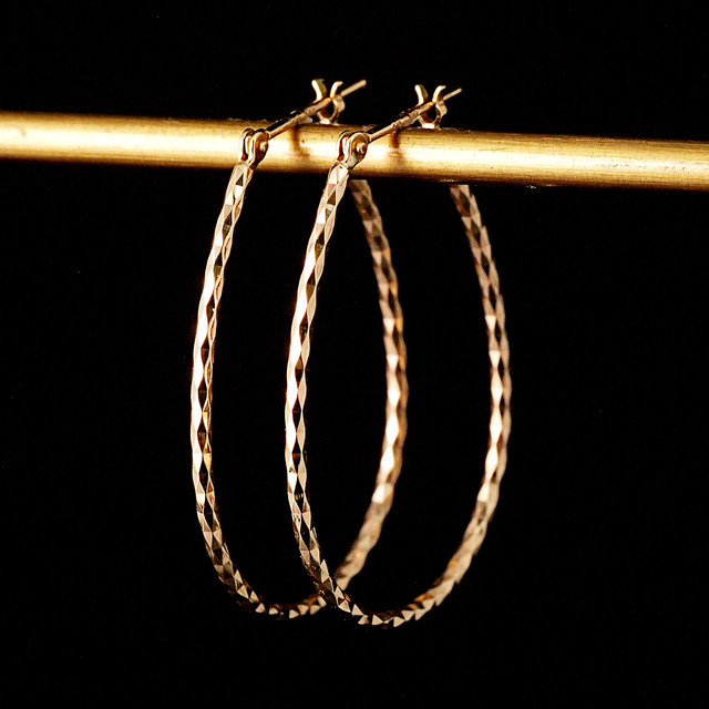 Mirror cut Hoop Earrings