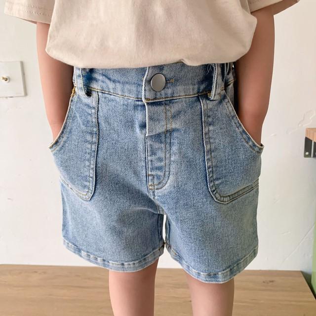 *6/18-20 新商品10%off【即納】デニムパンツ ウォッシュドデニム 夏 韓国子供服