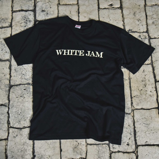 "T-Shirt ""WHITE JAM"" -Black-"
