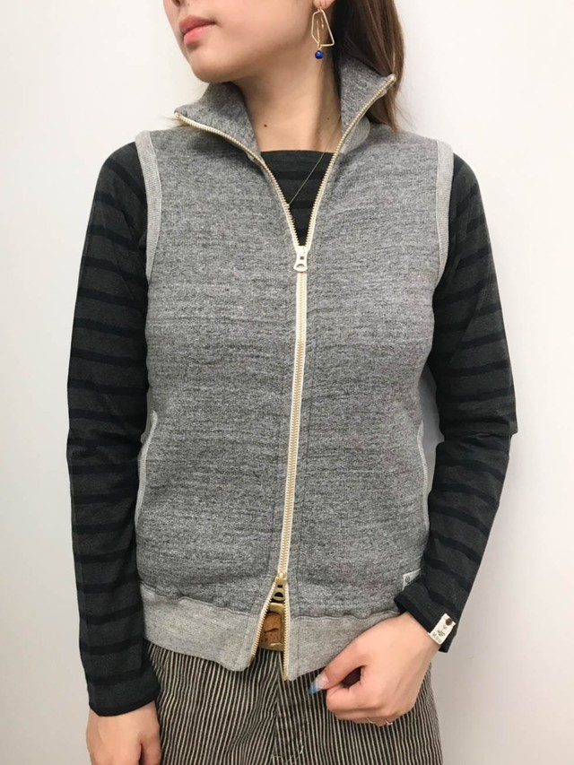 【kepani】スタンドカラ―ジップアップベスト