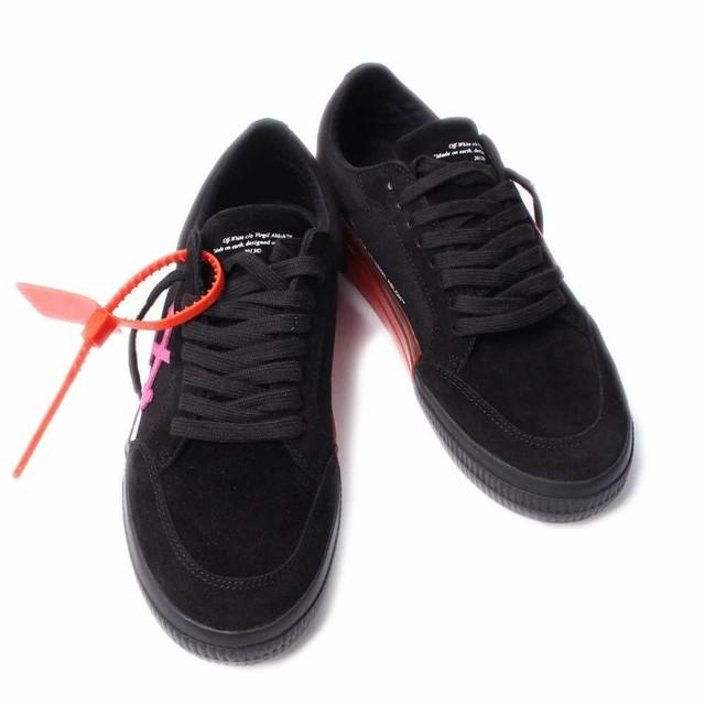 OFF-WHITE(オフホワイト) スニーカー 靴 LOW VULCANIZED ロー バルカナイズ ブラック OMIA085E19C210471028 EU41サイズ(約26cm) シューズ [全国送料無料]r014161