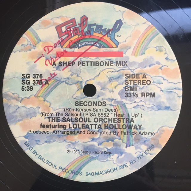The Salsoul Orchestra Featuring Loleatta Holloway – Seconds