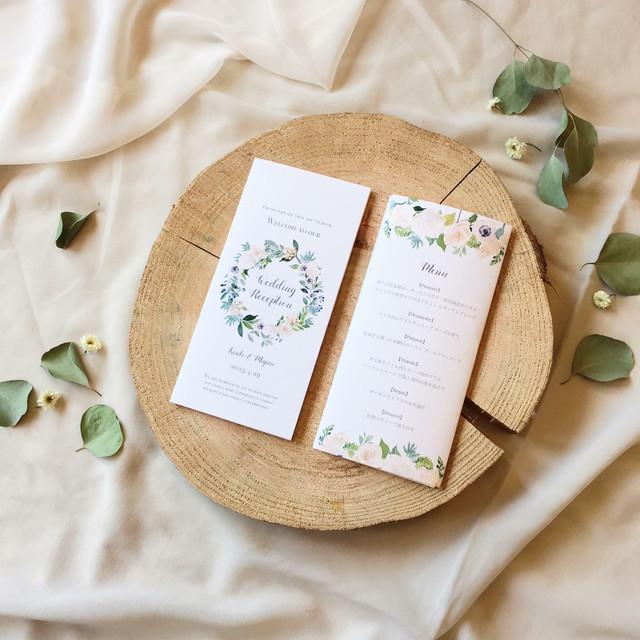 席次表 169円~/部 【ホワイトローズ】│結婚式 ウェディング  バラ