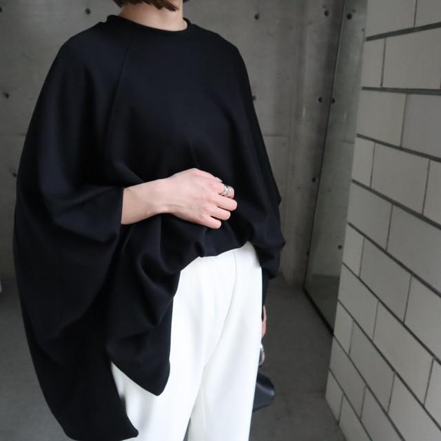 先行品 poncho jersey pullover (black)