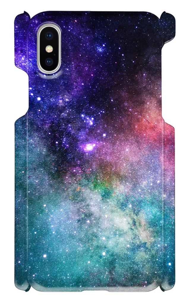 iPhoneX 印刷ケース 宇宙 星 月 メンズ ギャラクシー iphone 画像印刷 神秘的 綺麗 自然