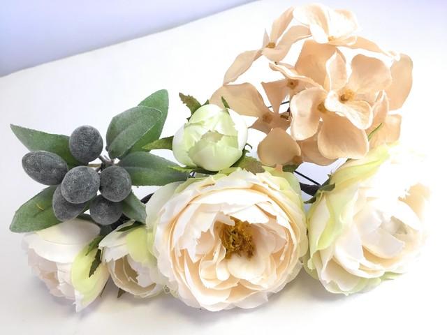 アンティーク調バラの花かんざし7点セット