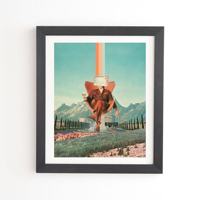 フレーム入りアートプリント  ENEMY BY FRANK MOTH【受注生産品: 11月下旬頃入荷分 オーダー受付中】
